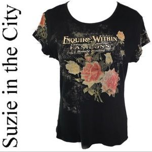 """Buckle Suzie in the City """"Enquire Within"""" Graphic"""